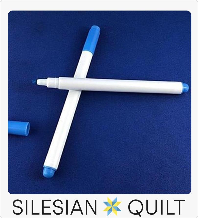 Washable marker for fabrics blue