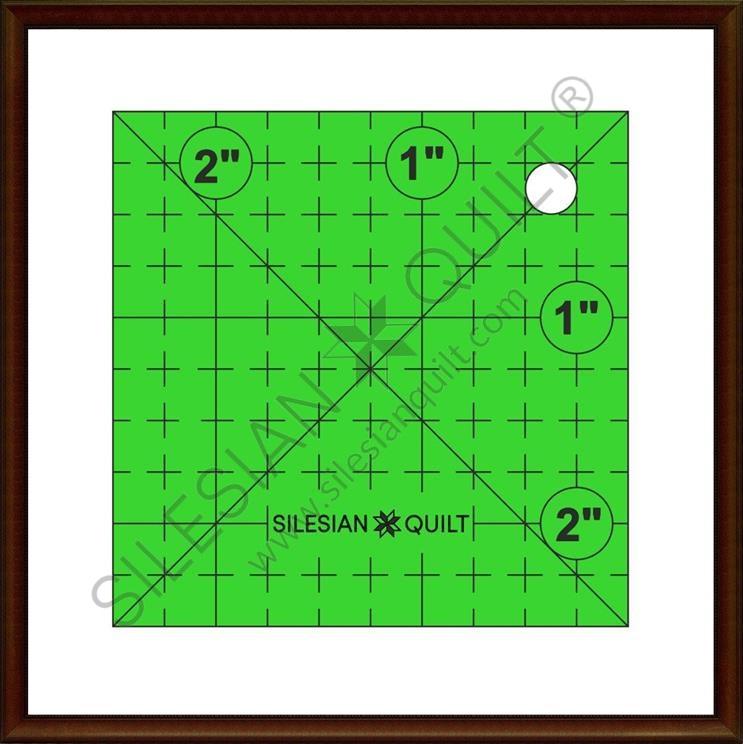 Quadrat 2,5 Zoll
