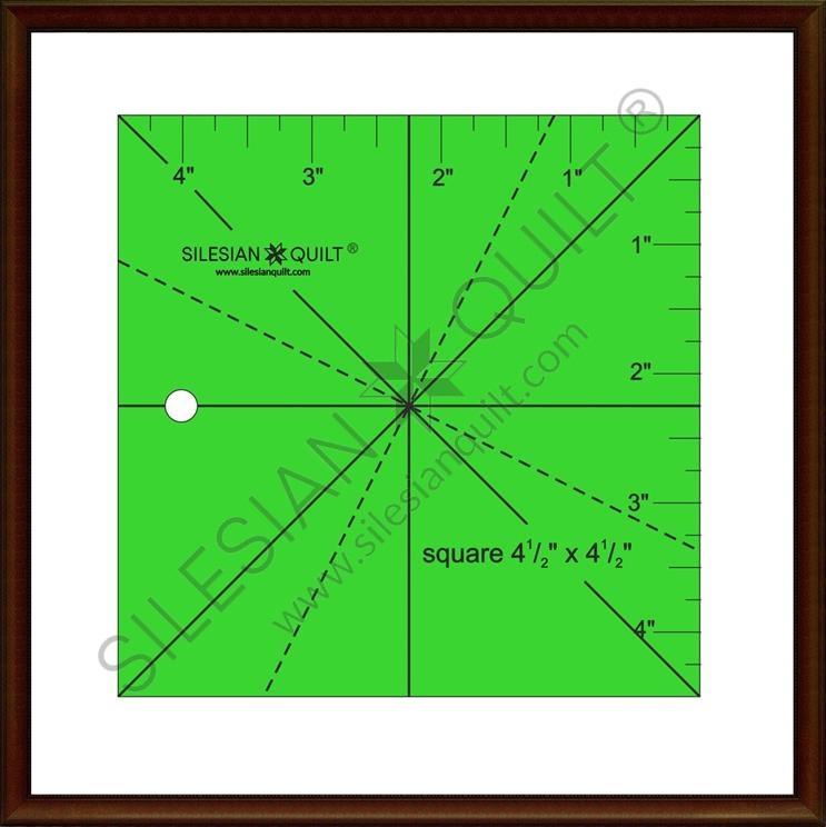 Quadrat 4,5 Zoll